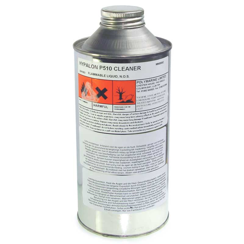 P510 Solvent & Cleaner for Hypalon Fabrics, 1ltr
